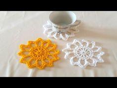 أصنعى بنفسك قواعد للأكواب بالكروشية سهلة جدا coasters crochet # قناة يوسى كروشية# - YouTube