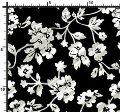 silk printed fabric heuchera