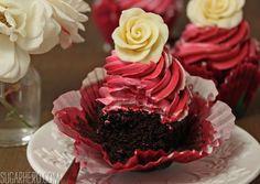 Chocolate Rose Cupcakes | SugarHero.com