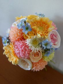 ハワイ挙式に☆ カラフル花冠&ラウンドブーケ♡ |Ordermade Wedding Flower Item MY FLOWER ♪ まゆこのブログ