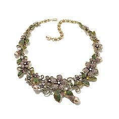 """Shop Heidi Daus """"Fairytale Forest"""" Crystal Link 15"""" Necklace, read customer reviews and more at HSN.com."""