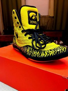 Custom 034 Iowa University 034 Inspired Nike Inflict Wrestling Shoes | eBay
