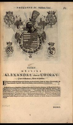 361. 1624; Alexandre, Prince of Arenberg and Chimay (1599-1629).