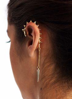spiked ear cuff