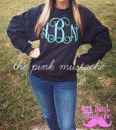 Embroidered / Monogrammed Sweatshirt  / Extra Large Embroidery