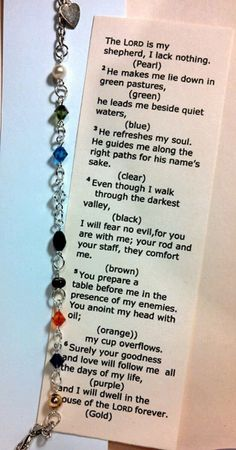 23rd Psalm Bracelet by Mladyfaire on Etsy, $10.00