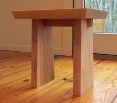 Japanese influenced Nightstand, End Table, scaled size coffee table, Solid Wood Maple, Ready to Ship