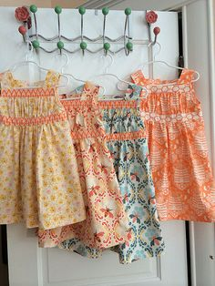 Garden Party dresses with Sweet as Honey fabric. | Flickr - Photo Sharing!
