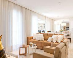 Apartamento de 120m2 clean e neutro Veja o antes e depois de um apê em tons neutros e com móveis charmosos