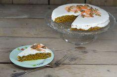 Suikervrije pumpkin carrot cake