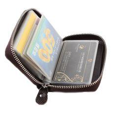 ee5b5340eb570 Sale 10% (13.99 ) - Women Men Zipper 17 Credit Card Holder Genuine