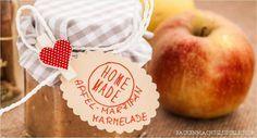 Bratapfel-Marmelade mit Marzipan und Rosinen  http://www.backenmachtgluecklich.de