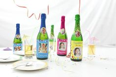 etiketten fles versiering communie