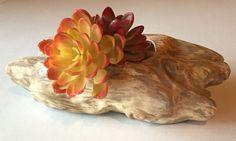 Vintage Planter MOD 1960s Ceramic Vase Faux Wood by StylishPiggy