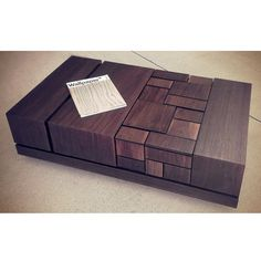 Modern Abstract Walnut Coffee Table by MSTRF