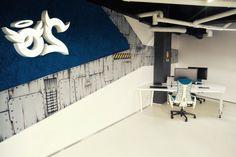 Attraktives Büro wie ein Raumschiff eingerichtet - #Wohnideen