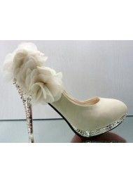 Nieuwe hoge hakken schoenen, partij schoenen bruiloft witte bruiloft schoenen…