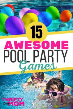 15 Classic and New Pool Party Games Plan an awesome summer pool party with these fun games and toys for kids, teens, and tweens. Even the adults joined in on activities like the ring toss and obstacle course at our last party. Tween Party Games, Pool Party Games, Kids Party Themes, Fun Games, Games For Kids, Games To Play, Party Ideas, Diy Party, Teen Pool Parties