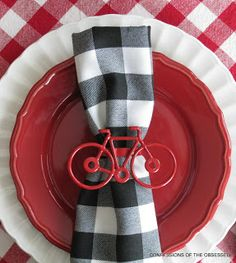 black napkin rings target | ... use with the red bicycle napkin rings and black flatware from Target