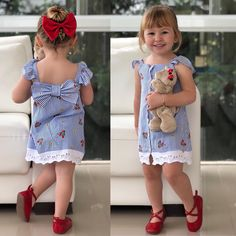 Cute Outfits For Kids, Toddler Outfits, Baby Girl Fashion, Kids Fashion, Kids Summer Dresses, Baby Girl Boutique, Baby Dress Design, Girls Rompers, Cute Little Girls