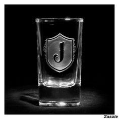Family Crest Monogrammed Shot Glass