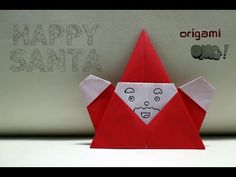 OMG! Easy but cool Origami - HAPPY SANTA | สอนพับซานตาคลอส - YouTube