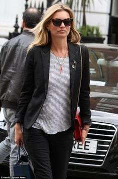 Kate Moss and Jamie Hince wear similar blazers as they take model's vintage Porsche 911 for a spin | Mail Online