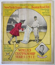 1912 World Series Red Sox vs Giants Reproduction Metal Sign 8 x 12