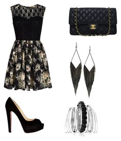 """Untitled #123"" by music4evs ❤ liked on Polyvore featuring Mela Loves London, Christian Louboutin, Chanel, GUESS and Avenue"
