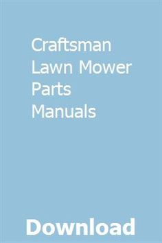 7 Best CRAFTSMAN LAWN MORE images in 2017 | Artisan
