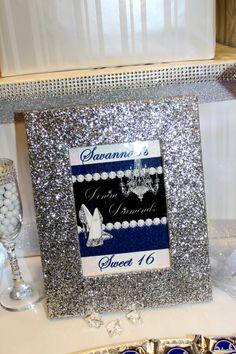 Denim & Diamonds Sweet 16 Candy Table