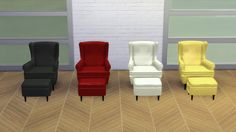Sims 4 CC's - The Best: IKEA Strandmon Armchair by Meinkatz Creations