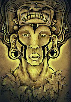 Puma Punku Healer Drawing  - Puma Punku Healer Fine Art Print