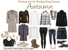 10 Piece Packing List for Europe in AUTUMN via TravelFashionGirl.com #travel #fashion #packing #list