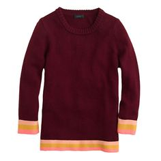 J.Crew - Pre-order Triple-tipped sweater. Garnet apricot marigold.