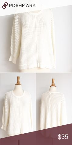 ⭐️Like New⭐️ Athleta Cable Knit Sweater Sweater is in perfect like new condition. The bust measurement is approximately 24 inches across from armpit to armpit and the length in the front is 23 inches and the length in the back is 26 inches. The fabric content and 70% cotton and 30% nylon. Athleta Sweaters Crew & Scoop Necks