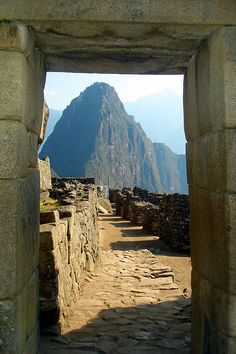 Entrance Door - Machu Picchu, Cusco