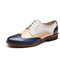 Classy, Comfortable, Gorgeous Navy and White Women's Oxfords Vintage Lace up Flats Comfortable Shoes you best choice for Work, School, Going out -TOP Design by FSJ Oxford Shoes Outfit, Casual Oxford Shoes, Women Oxford Shoes, Leather Fashion, Fashion Shoes, Women's Fashion, Derby, Baskets, Glass Shoes