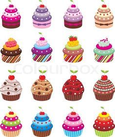 Vector of 'Cupcakes'