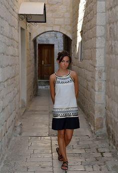 Greek style with Bata flats by Roksolana #batashoes