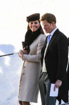 Catherine, Duchess of Cambridge and Prince Harry attended society couple's gorgeous Swiss Alps wedding - March 2013