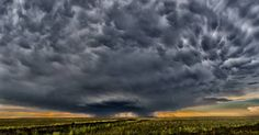 8 Shot pano of the Grady New Mexico storm with mammatus from last August.  Canon17-40mm@40mm f-13 1/160 Sec ISO- 1000