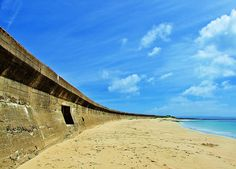 Longis Beach- Anti-Tank Wall  Alderney