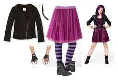 """Girls Descendants Mal Costume"" by jmc6115 on Polyvore featuring Disney, Halloween, Costume, mal and Descendants"