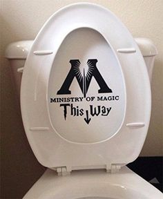 Ministry Of Magic Bathroom Toilet Decal Sticker - Funny Harry Potter Parody Wall…