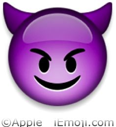 Emoji Faces | Smiling Face with Horns Emoji (U+1F608)