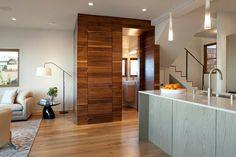 moderne Wandpaneele Holz Verkleidung Badezimmer
