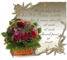 Přáníčko k svátku s říkankou | Tvoření Art Quotes, You And I, Wreaths, Blog, Woods, Decor, Board, You And Me, Decorating