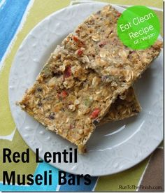 Lentil Muesli Bars - Quick, No Bake, Eat Clean Dessert Easy Healthy Pasta Recipes, Raw Food Recipes, Healthy Snacks, Snack Recipes, Healthy Protein, Healthy Eating, Museli Bar Recipe, Lentils Protein, Muesli Bars