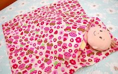 baby doll blanket with pouch for baby